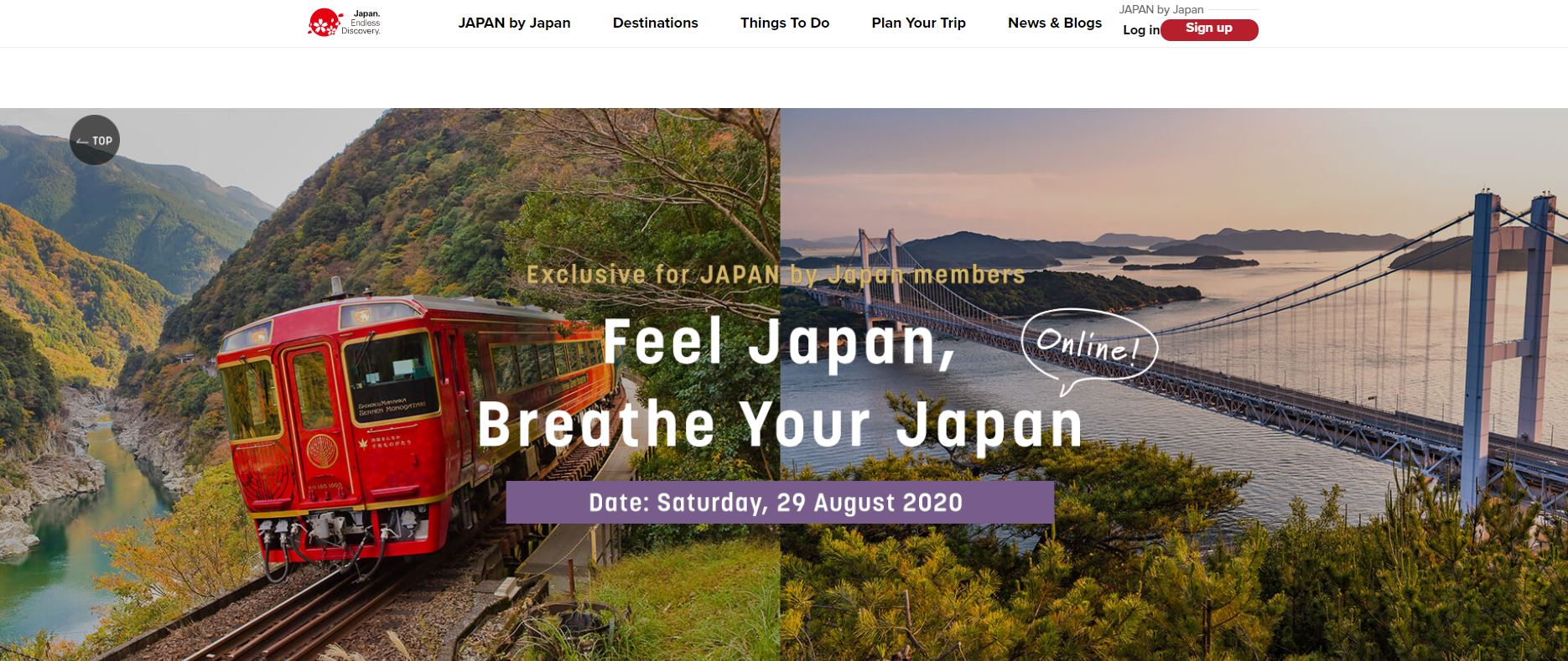 JAPAN by Japan online event